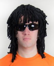 Edgar Davids Holland Dreadlock Wig & Glases Football Fancy Dress